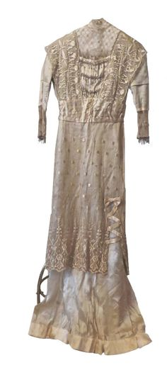 Elegant Antique Beaded Lace Hand Sewn Edwardian Downton Abbey Gown from Museum | eBay