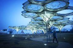 Robotically woven hexagonal pavilion in Germany heralds revolution in architecture | Inhabitat - Green Design, Innovation, Architecture, Green Building