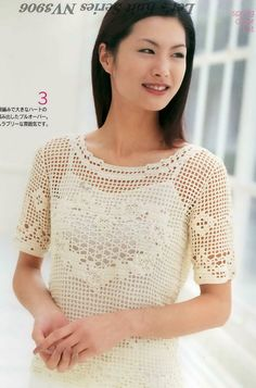 Japanese Filet Crochet Lace Summer Top Pattern  by DotsStripes, $2.50