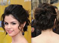 Apparently I really like Selena Gomez's hair  updos for medium length hair - Bing Images