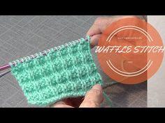 Waffle Knit Stitch - YouTube
