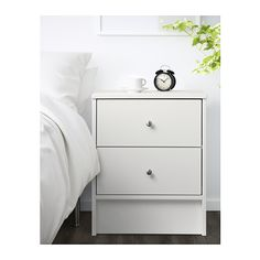 DYFJORD Nightstand - white - IKEA