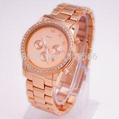 8aa8c6a3bda mulheres marca de luxo relógio mj mbm3105 henry chrono senhora rosa ouro  feminino strass mj relógios marc relogios relógios relógio de pulso em  Relógios de ...