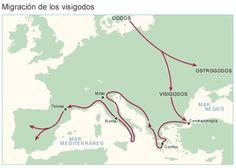 """Ruta de los pueblos visigodos. Entrada """"La formación de las lenguas peninsulares"""" (13-07-15), en el blog """"Littera"""". Enlace: http://litteraletra.blogspot.com.es/2015/07/la-formacion-de-las-lenguas-peninsulares.html"""