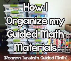How I Organize @reagan_tunstall 's Guided Math Materials! #GuidedMathOrganization #GuidedMath