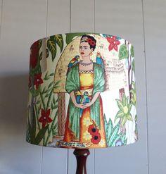 Frida Kahlo Lampshade  Fabric Lamp Shade  Frida by MesmerizingBlue