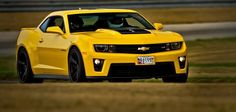 2012 ZL1 at the track!! Hot Yellow!!