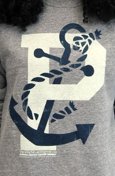 Profound Aesthetic Varsity Anchor TriBlend Crew Women WANT!