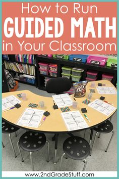 Want to to implement guided math in your elementary classroom? Learn what your math groups and center rotations will look like when you get them setup. You will find a sample schedule for how to… Math Rotations, Math Centers, Numeracy, Fun Math, Math Activities, Math Math, Math Games, Math Fractions, Maths Puzzles