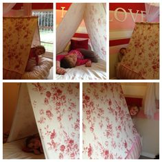 I made a bed tent! Will add a link to a DIY tutorial when I post it on my blog. The Little One loves it...