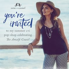 You're invited to my Amalfi Coast pop-up shop Friday, May 20th! The first three people to purchase $75 or more on May 20th will receive a pair of silver or gold earrings, your choice!!! https://www.chloeandisabel.com/boutique/exquisiteboutique
