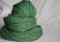 Mojito 192 Yards of Hand Spun Hand Dyed 2 Ply Yarn by reneeknits