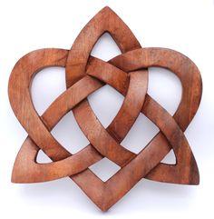 Wandbild ~ MIA ~ Keltischer Liebesknoten - Herz - aus Holz - Wandschmuck Celtic - Windalf