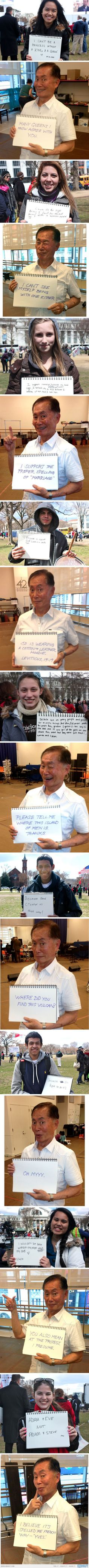 -George Takei Responds To Traditional Marriage Fans- I'M DYING.  OHHHHH MY LUNGS ARE FAILING ME.  XD  I love Mr. Takei!