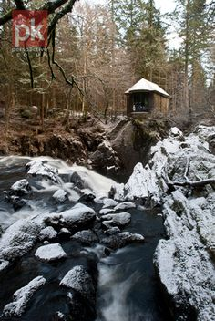 Ossian's hall and waterfall, Hermitage,, Scotland