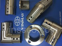 Since frameless glass railing is more popular, Vinmay's channel tube fittings are launching. Stainless Steel Stair Railing, Stainless Steel Fittings, Door Gate Design, Steel Stairs, Glass Railing, Heat Exchanger, Steel Water, Water Pipes, Tube
