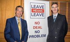 Leading Brexiteer and Conservative MP Jacob Rees-Mogg joined former UKIP leader Nigel Farage and JD Wetherspoon founder Tim Martin at a Brexit Means Brexit rally in Torquay today. Jacob Rees Mogg, John Major, Vote Leave, Nigel Farage, Uk Politics, Aqa, Founding Fathers, Politicians, Betrayal