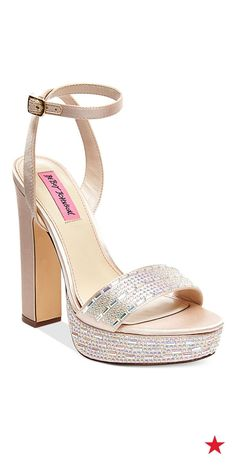 Prom night #style alert: Mod platform #shoes, like these sparkling Betsey Johnson Alliie evening #sandals, will give your prom night ensemble a cool look that's right on trend!