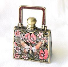Wholesale Unique Butterfly Flower Antique Perfume Bottle