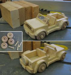 A 2 X 4 Jeep Is A Great Woodshop Project- Part 1 of 2:   Click to see full story and directions about how we do it.