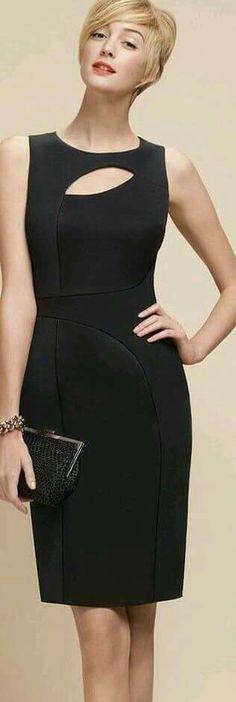 65dd072566 Assymetrical cutout little black dress