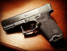 This Glock 19 has had a grip reduction and stippling performed by Boresight Solutions (image credit, Melody Lauer/Limatunes)