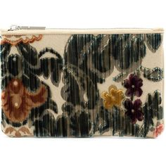 Hayward tapestry clutch ($690) ❤ liked on Polyvore featuring bags, handbags, clutches, green, purses, lightweight handbags, special occasion clutches, zip purse, cocktail purse and special occasion handbags