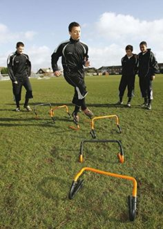 Precision Training Soccer Rugby Sport Adjustable Speed Agility Hurdle Set  Of 6 Agility Training e7663371874e4