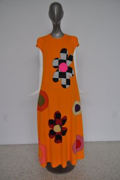 Rudi Gernreich iconic op art knit Maxi Dress collectible Rudi Gernreich maxi Dress by vintagelemonde on Etsy