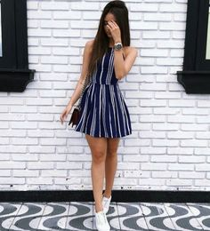 T-shirt dress with converse 43 Ideas Girly Outfits, Mode Outfits, Outfits For Teens, Trendy Outfits, School Outfits, Cute Dresses, Casual Dresses, Fashion Dresses, Dress With Converse