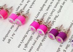 Colour Pencil Ear Studs, the Purple and Pink Collection, Pencil Jewellery, Handmade in England by Huiyi Tan Scarf Jewelry, Wire Jewelry, Jewelry Art, Handmade Jewelry, Jewellery, Diy Craft Projects, Diy Crafts, Craft Ideas, Scarf Display