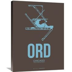 Naxart 'ORD Chicago Poster 2' Graphic Art on Wrapped Canvas Size: