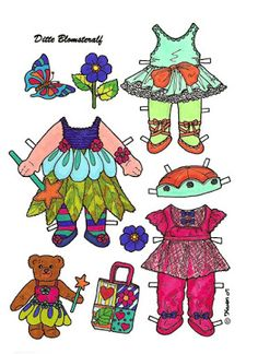 Karen`s Paper Dolls: Ditte Flower Fairy 1-2 Paper Doll in Colours. Ditte…