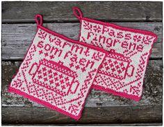 pattern by Jorunn Jakobsen Pedersen Crochet Potholders, Crochet Granny, Knit Crochet, Crochet Home Decor, Diy Arts And Crafts, Handicraft, Pot Holders, Knitting Patterns, Sewing