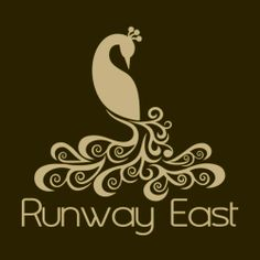 Introducing our peacock logo for www.RunwayEast.com. Modest shadow of a peacock.