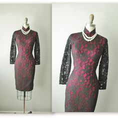 60's+Cocktail+Dress+//+Vintage+1960's+Black+by+TheVintageStudio,+$70.00
