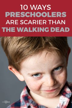 Are you a Walking Dead fan? If so, maybe you've seen the resemblance between walkers and preschoolers.