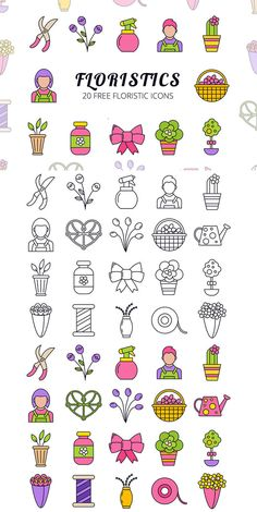 Floristic Vector Icon Set is a beautiful collection of 20 thematic icons. Each has two options. The first is colored, the second is linear. Doodle Icon, Doodle Art, Vector Icons, Vector Free, Journal Fonts, Ui Patterns, Ios Icon, Valentines Illustration, Instagram Highlight Icons