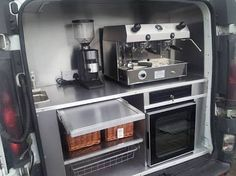 Image result for coffee truck interior                              …