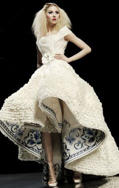 Dior Haute Couture by Galiano - Ruffles and Blue Border
