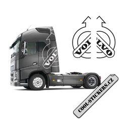 Máme další novinku pro kamion značky Volvo, kterou je stylová samolepka na boky. Určeno na levou a pravou stranu. Zvolte si barvu i rozměr své samolepky. Cool Stickers, Volvo