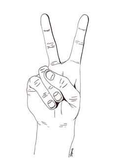 my friends all know how much i make the peace sign Tumblr Drawings, Art Drawings, Illustration Sketches, Art Sketches, Peace Sign Drawing, Hand Kunst, Tumblr Outline, Peace Sign Hand, Pelo Anime