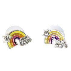 DaisyJewel Double Rainbow All the Way Yellow Orange Purple Crystal Silver Stud Earrings DaisyJewel http://smile.amazon.com/dp/B00IX5XAH4/ref=cm_sw_r_pi_dp_a81Wtb11PZN03P8Z