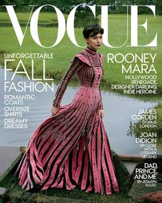Rooney Mara in Valentino Fall 2017 on the October 2017 Cover of Vogue Magazine