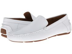 Calvin Klein Menton White Tumbled Leather - 6pm.com