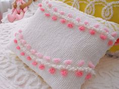 COTTAGE VINTAGE CHENILLE PATCHWORK ACCENT PILLOW by thepinkpalace