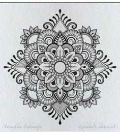 Mandalas Painting, Mandalas Drawing, Dot Painting, Mandala Doodle, Mandala Tattoo, Doodle Art, Doodle Patterns, Mosaic Patterns, Art Lotus