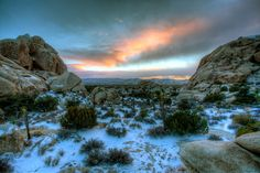 New Years Eve 2014.  The high desert got hit with some snow the night before.  I've been waiting a long time to be able to get some photos of the Joshua Trees with snow.  It didn't stick around very long so I feel luck to have gotten up there when I did.