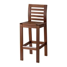 ÄPPLARÖ Bar stool with backrest, outdoor Only $55 with a back