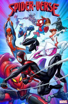 Spider-verse variant cover by PatrickBrown on DeviantArt Marvel Art, Marvel Dc Comics, Marvel Heroes, Marvel Avengers, Spiderman Art, Amazing Spiderman, Spiderman Poster, Spiderman Costume, Marvel Wallpaper